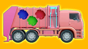 Binkie TV - Garbage Truck Learn Colors With Funny Toy Truck ...