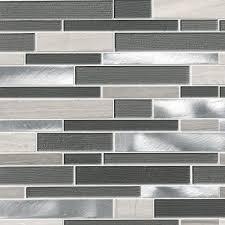Standard Tile Edison Nj Hours by Urban Loft Interlocking Pattern 4mm Glass Stone Metal Mosaic Tile