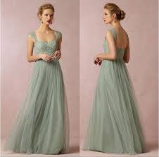 Cap Sleeve Bridesmaid Dresses Floor Length by Sage Green Chiffon Bridesmaid Dresses 2016 Cap Sleeves Long