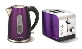 Purple Toaster And Kettle Set Image Sink