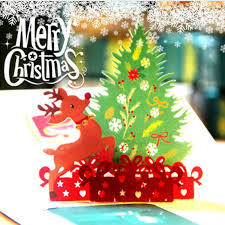 3d White Christmas Snow Greeting Card Pop Up Gift Card Xmas Greeting