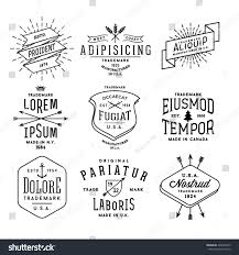 Collection Monochrome Hipster Vintage Label Logo Badge For Your Business Or T Shirt