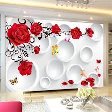 beibehang custom tapete 3d wandbild kreis romantische liebe hintergrund wand wohnzimmer schlafzimmer wand papers home decor wandbild