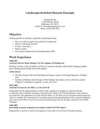 Landscape Architecture Cover Letter Anyett Architect Job Examples