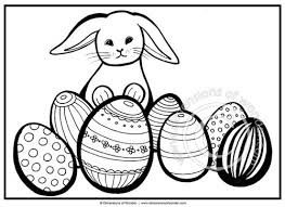Easter Bunny Coloring Pages Egg Printable