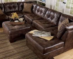 largo contemporary brown microfiber large sofa couch sectional