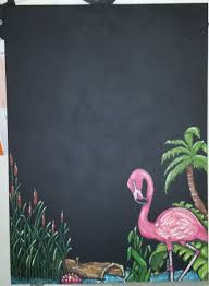 Unsanded Tile Grout Chalkboard by Sold Pink Flamingo Chalk Art Blackboard Message Board This