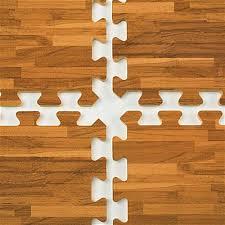 10 x 10 interlocking floor mats soft tiles w wood grain look