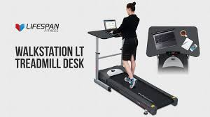 Lifespan Treadmill Desk Gray Tr1200 Dt5 by Lifespan Fitness Walkstation Lt Treadmill Desk Youtube