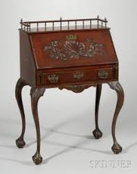 Drop Front Writing Desk by Search All Lots Skinner Auctioneers