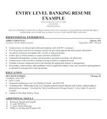 Sample Resume For Bank Jobs Banking Resumes No Experience
