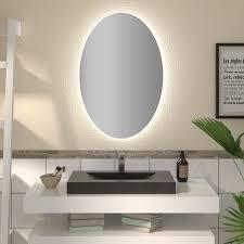 ovaler spiegel mit led nach maß fin badspiegel shop