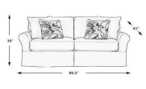 Cindy Crawford White Denim Sofa by Beachside Natural Sofa Isofa