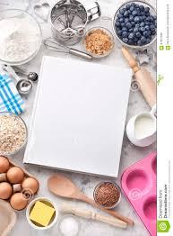 fond de cuisine livre de cuisine faisant cuire le fond de nourriture photo stock