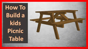 kids picnic table how to build a picnic table youtube
