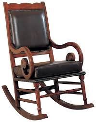 Rockers Traditional Wood Rocker With Brown Bicast Leather Seat And ... Innovative Rocking Chair Design With A Modular Seat Metal Frame Usa 1991 Objects Collection Of Cooper Hewitt Horse Plush Animal On Wooden Rockers With Belt Baby Glider Fresh Tar New Nursery Coaster Transitional In Black Finish Value Hand Painted Rocking Chairs Childs Rockers Hand Etsy Outdoor Wicker Legacy White Modern Marlon Eurway Gloucester Rocker Thos Moser Fniture Gliders Regarding Gliding Replica Eames Green Chrome Base Beech Valise Plowhearth