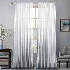 de gwell farbverlauf transparent voile gardinen