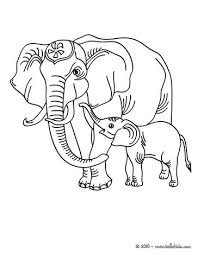 Asian Elephant Coloring Pages