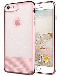 iPhone 6S Plus Case iPhone 6 Plus Case BENTOBEN Bling Glitter Clear Drop Protection Hard PC TPU Hybrid Dual Layer Slim Shockproof Stripes Phone Case for