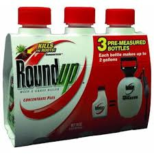 Roundup Weed Grass Killer Concentrate 3 Pack 6 Oz Each