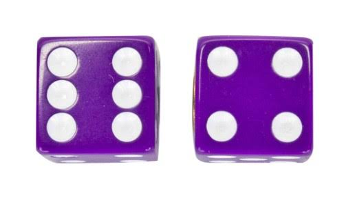 Trick Tops Valve Caps Dice - Purple