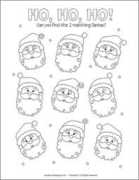 Matching Games For Kids Christmas Party
