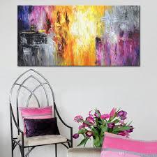 Handgemalte Zeitgenössische Kunst Ölgemälde Auf Leinwand Bunte Abstrakte Gemälde Modern Home Interior Decor Art Bild