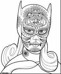 Beautiful Girly Skull Coloring Pages With Batgirl And