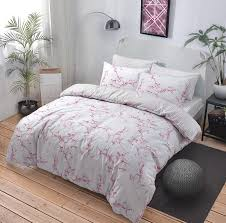NEW Duvet Cover Quilt Cover Bedding Set Marble Pink All Sizes