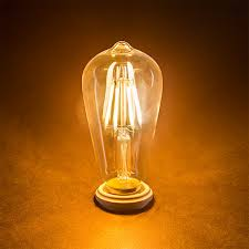 st18 led filament bulb 35 watt equivalent vintage light bulb