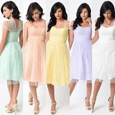 retro vintage cocktail dress with sheer cap sleeves in pastel