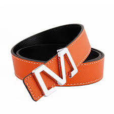 Hotti Brand Genuine Leather Men Belt Letter M Designer Luxury
