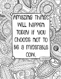 Adult Coloring Page Funny Quote Sheet By EssenceofInk