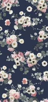 mural Flowers Background Iphone Beautiful Pink And Navy