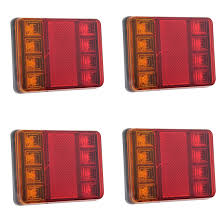 2Pcs 8 LEDS Car Truck Rear Tail Light Warning Lights Rear Lamps ... 2x Led Rear Tail Lights Truck Trailer Camper Caravan Bus Lorry Van 0708 Dodge Ram Pickup Euro Red Clear 111 Round And W Builtin Reflector 4 Inch Led Whosale 2018 8 Car Light Warning Rear Lamps Waterproof Amazonca Trucklite 44022r Super 44 Stopturntail Kit 42 2 Pcs With License Plate Lamp Durable Lights Ucktrailer Circular Stoptail Lamp 1030v 1 Pair 12v Turn Signal 20fordf150taillight The Fast Lane