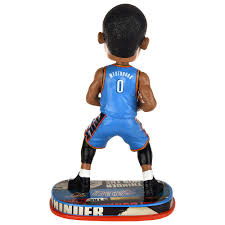 Upper Deck Westbrook Ct Accident by Russell Westbrook Oklahoma City Thunder 2017 Nba Headline Bobble