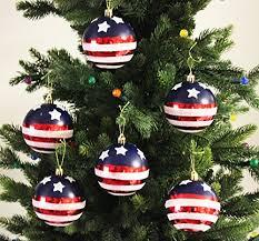 Festive Season Stars Stripes Shatterproof Christmas Ball Ornaments Tree Decorations Set Of 6 80mm
