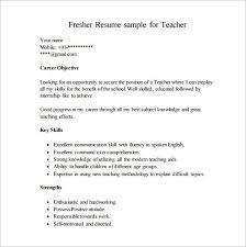 Career Objective For Resume Fresher Teacher