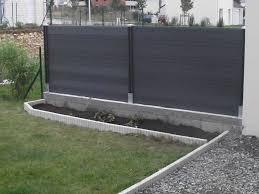 mur de separation exterieur cacher un mur en béton résolu