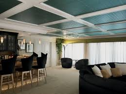 Armstrong Acoustical Ceiling Tile Paint by A Painted Tin Ceiling Adds A Pop Of Color To Any Room In An