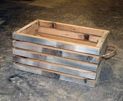 Small Barn Wood Crate 1995 Via Etsy
