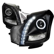 cadillac cts 2003 2007 black halo projector headlights my car is