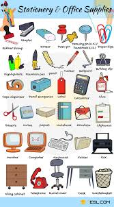 Stationery and fice Supplies Vocabulary in English