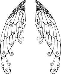 Fairy Wings Coloring Pages Double Page Colouring