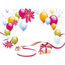 400x400 Happy Birthday on Balloon transparent PNG