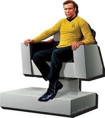 Star Trek Captains Chair by Star Trek Tos Captain Kirk Figure In Bridge Chair 3 D Die Cut