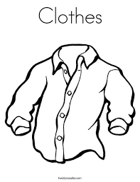 Clothes Coloring Page