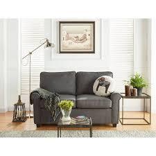 mainstays sofa sleeper with memory foam mattress grey walmart com