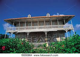 Colonial Style Guadeloupe French West Indies Dwelling Traditional House Grande Terre