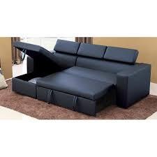 canapé d angle convertible noir coffre de rangement achat